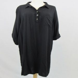 Faded Glory Black button up collared shirt dress